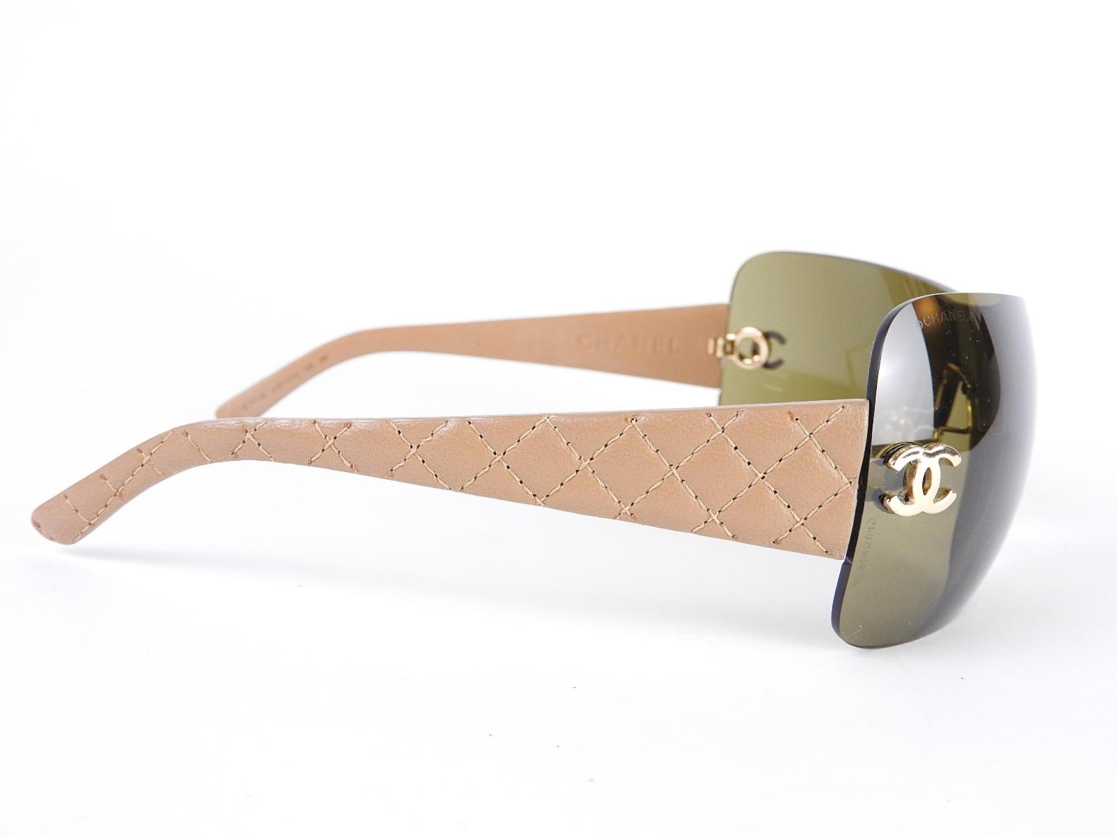 Chanel Glasses Frames Leather : Auth CHANEL CC Logo Matelasse Sun Glasses Plastic Leather ...