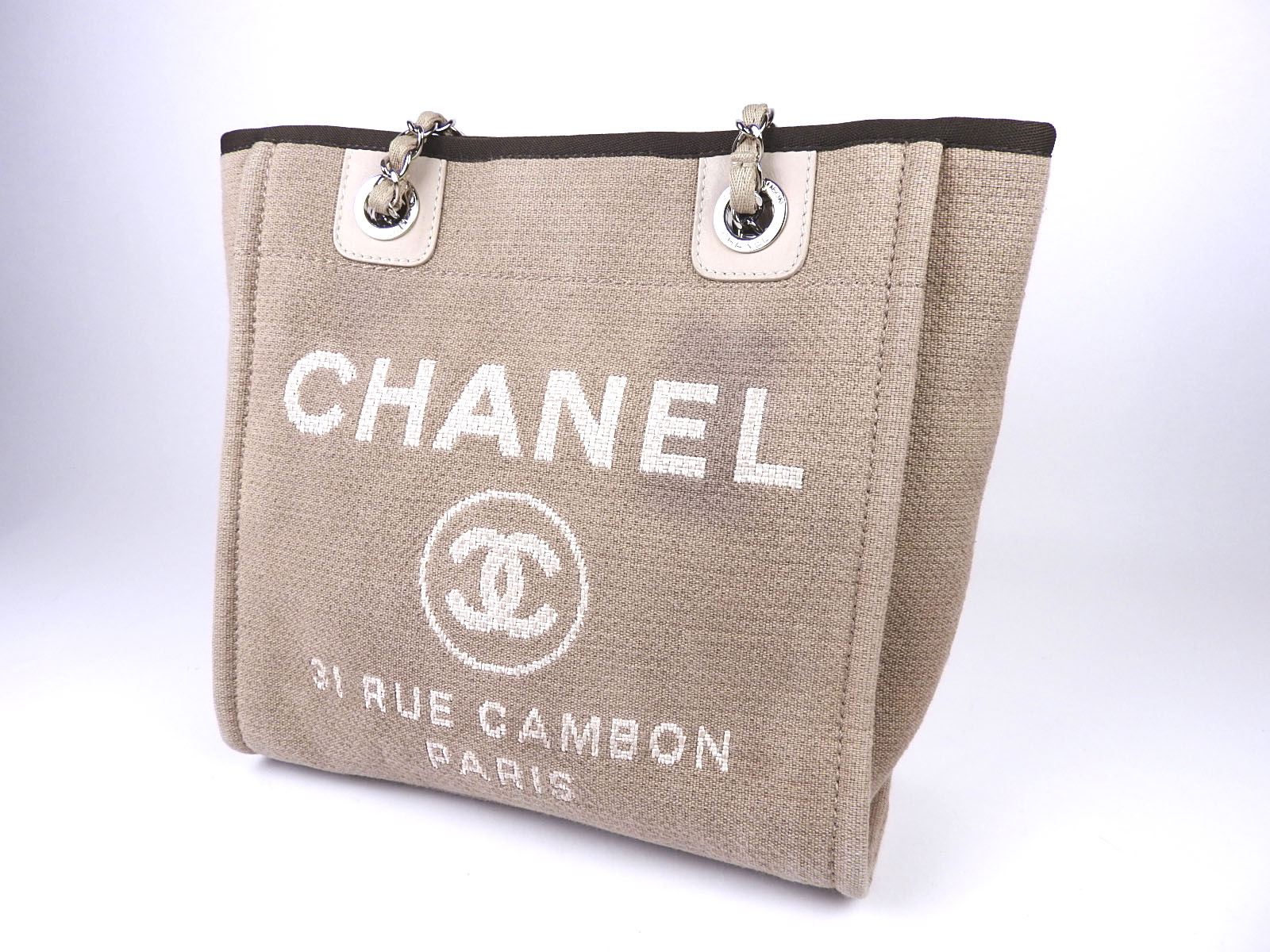 3ff9b9c2aa6a Chanel Deauville Canvas Tote Size. CHANEL Deauville Tote Shoulder Bag ...
