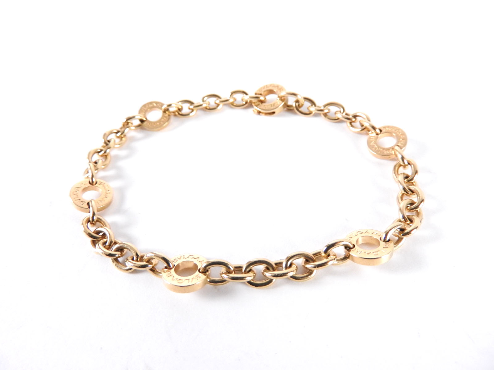 bvlgari bvlgari bvlgari circle charm logo chain bracelet