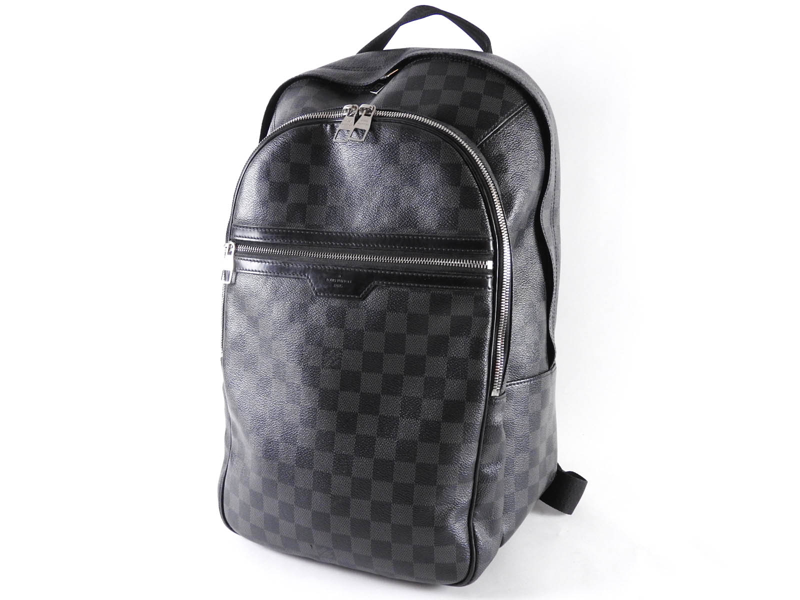 8401ee442517 Auth LOUIS VUITTON Damier Graphite Michael Backpack Bag N58024 A-5702
