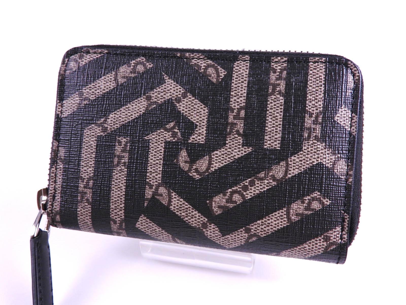 0b9f891b6dd Gucci GG caleido Supreme zíper ao redor do cartão caso Moeda Bolsa ...