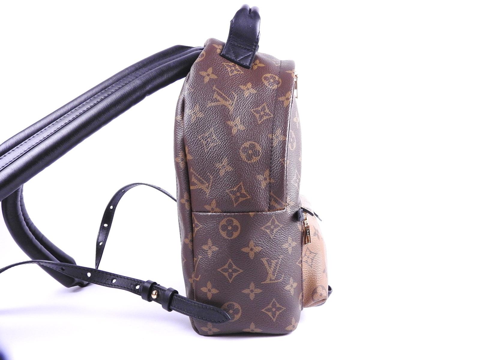 c5f40ea976c4 Auth LOUIS VUITTON Palm Springs Backpack PM Monogram Reverse Noir ...