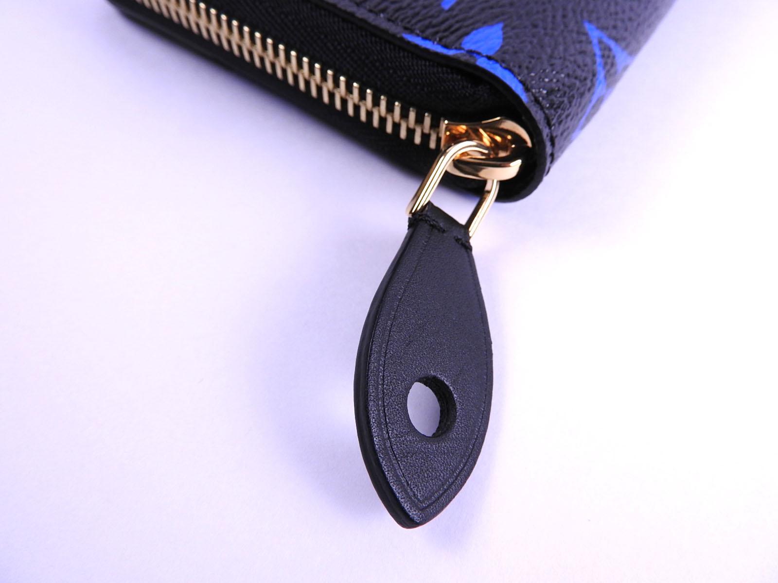 632aef45 LOUIS VUITTON Monogram Blue Zippy Wallet Zip Around Long Wallet M67235  A-8563
