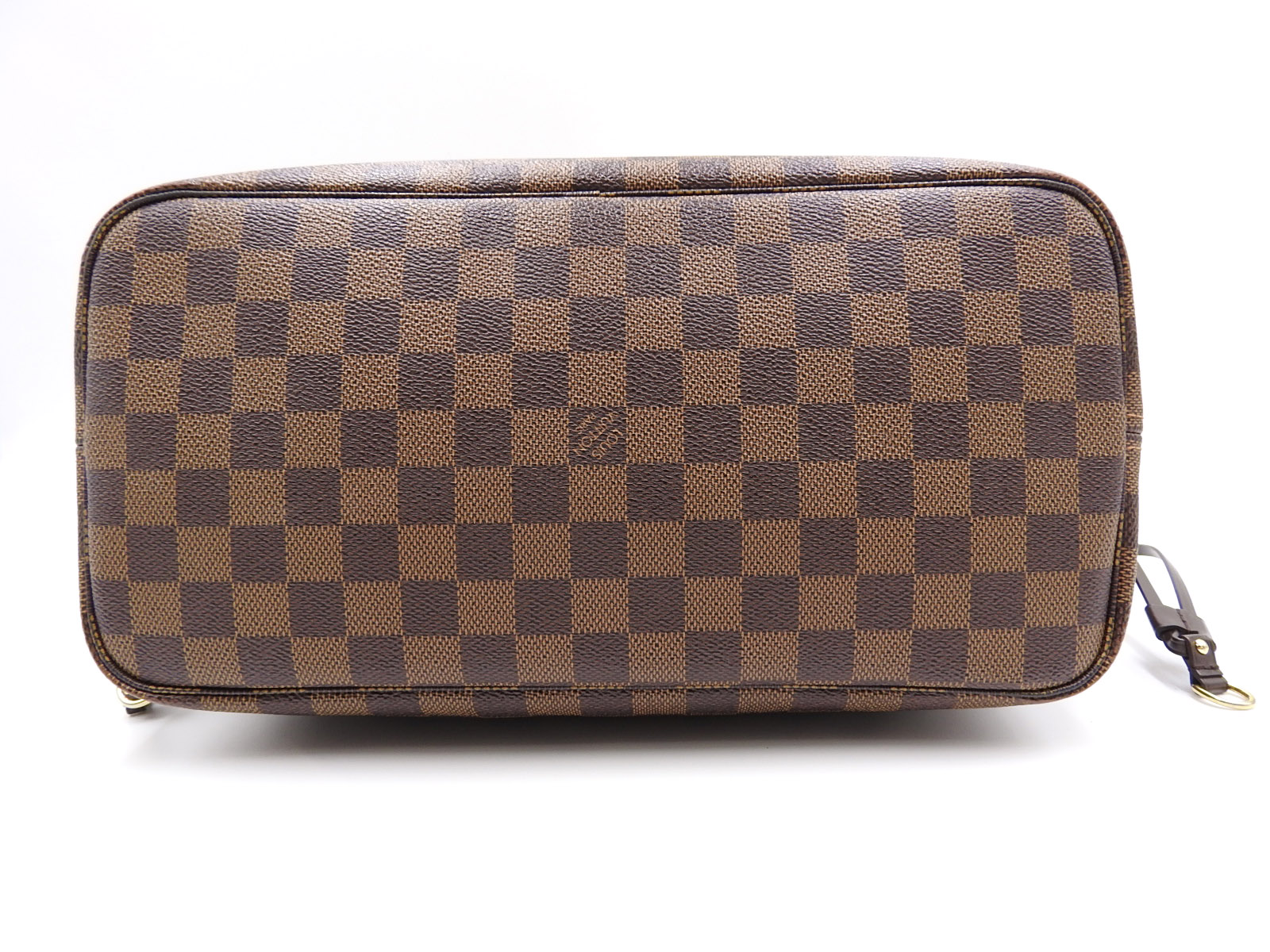 22b383ecb LOUIS VUITTON Neverfull MM Damier Ebene Shoulder Tote Bag With Pouch ...