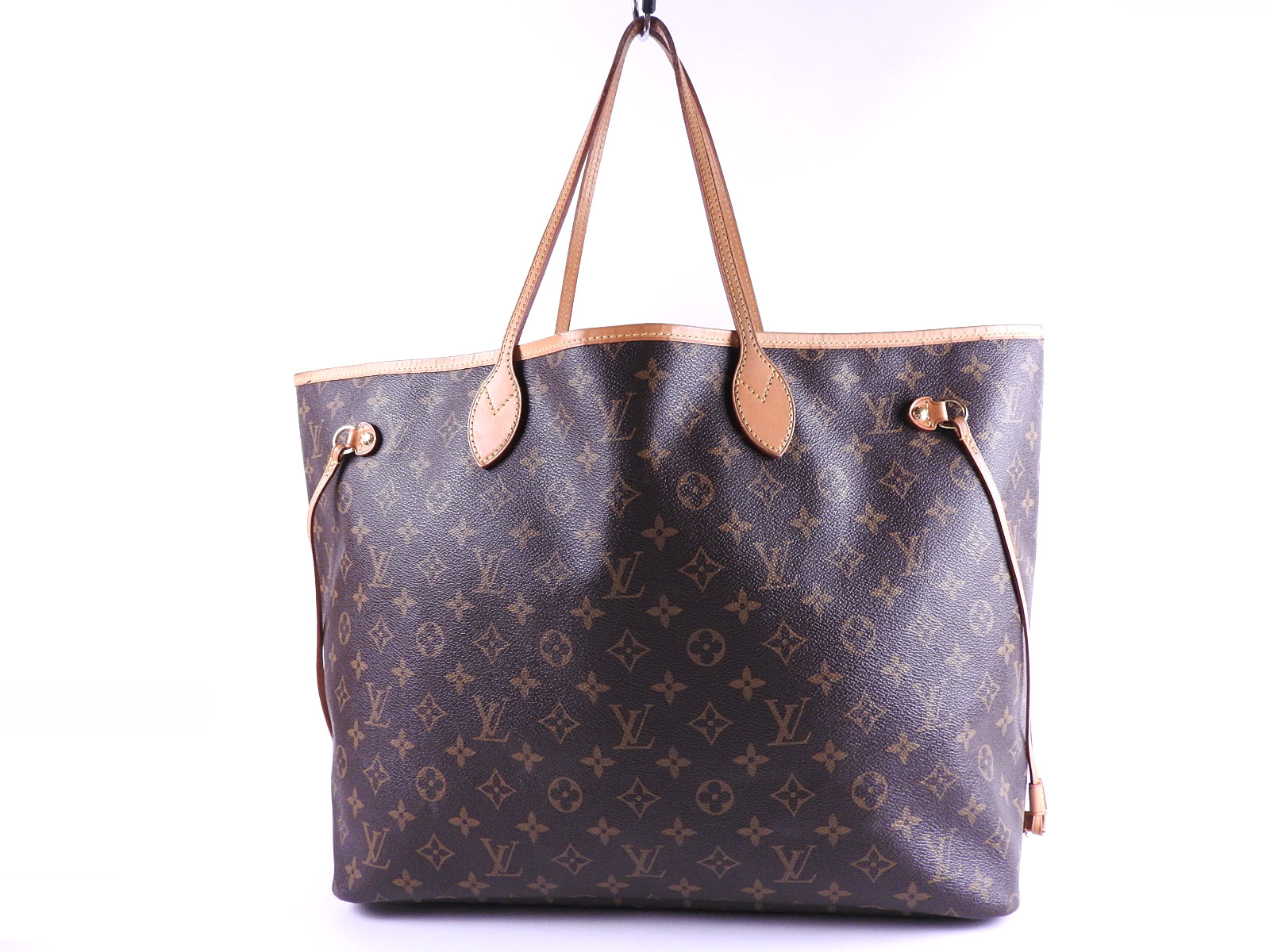 65e8ac0f8 Auth LOUIS VUITTON Neverfull GM Monogram Tote Bag Shoulder Bag With Pouch  M40990 A-8654
