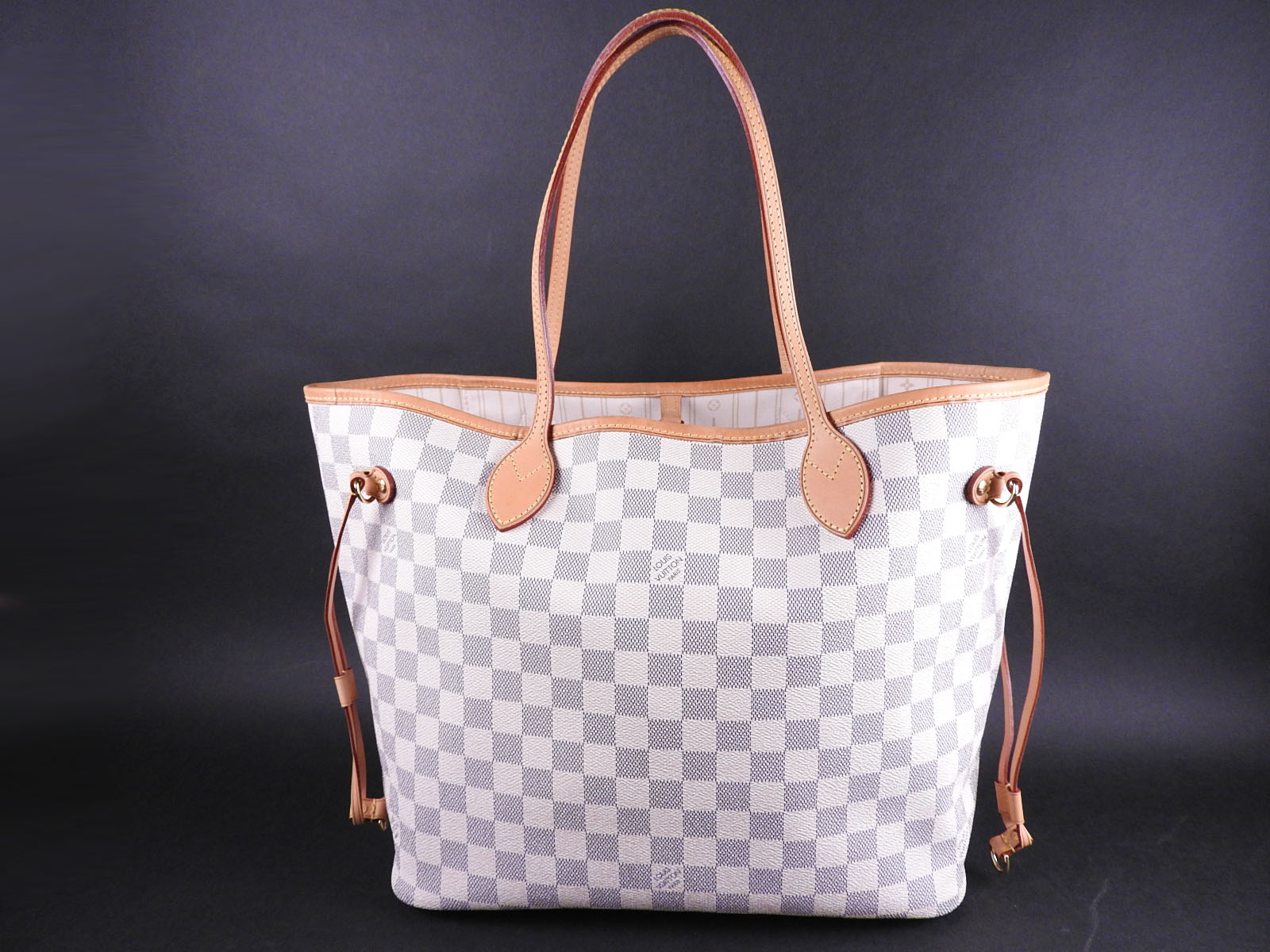 40dde1d38b7a Details about Auth LOUIS VUITTON Neverfull MM Damier Azur Tote Bag Shoulder  Bag N51107 A-9067