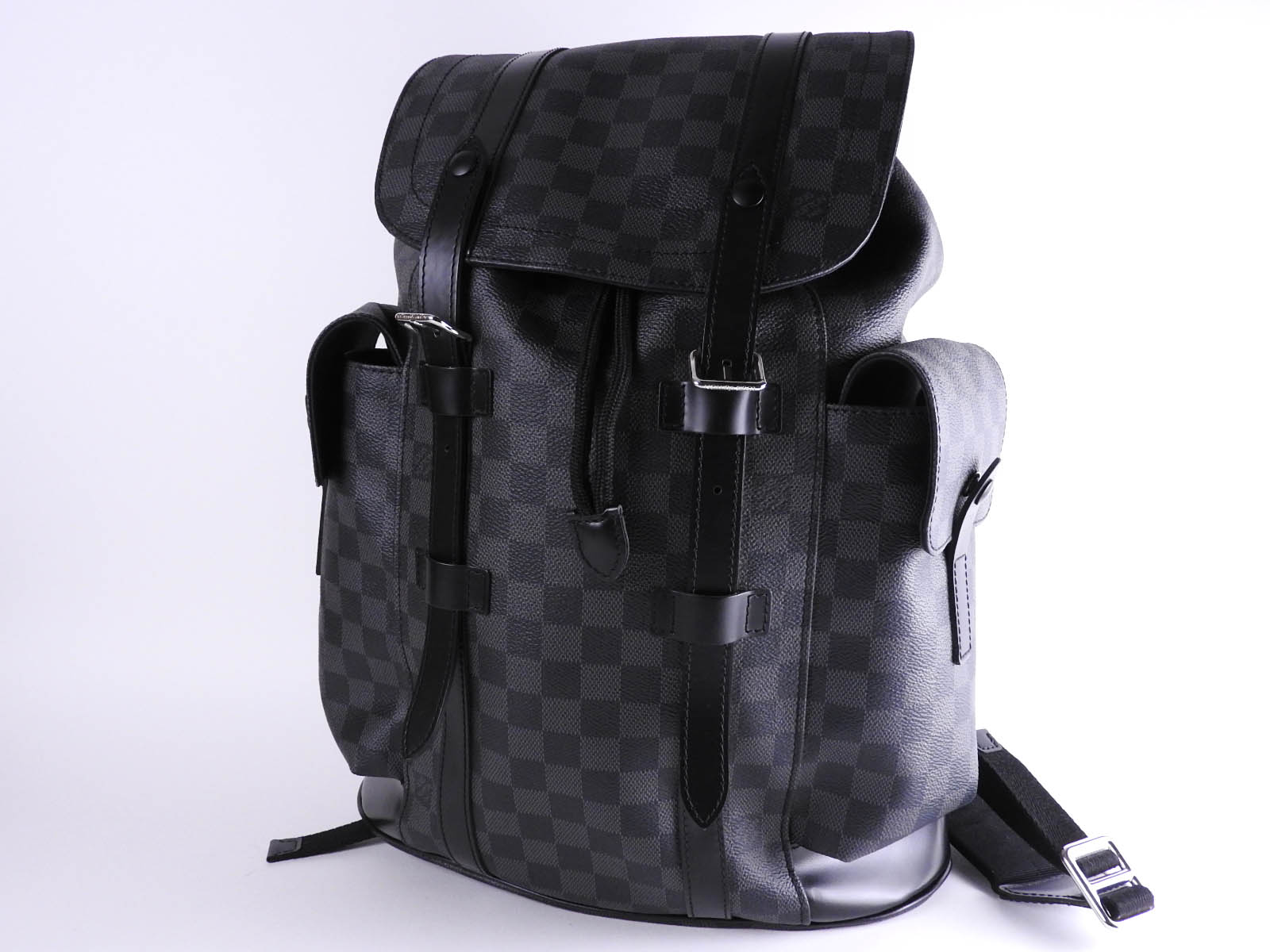 ae5cde74ed9 Auth LOUIS VUITTON Damier Graphite Christopher PM Mens Backpack Bag N41379  A9760