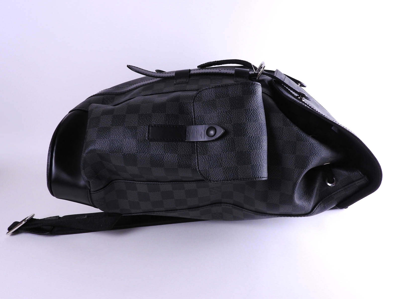 1ee06817 Auth LOUIS VUITTON Damier Graphite Christopher PM Mens Backpack Bag N41379  A9760